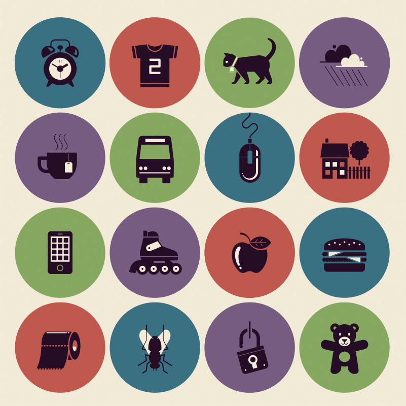 Set of icons for Der Spiegel (Kids-Edition)