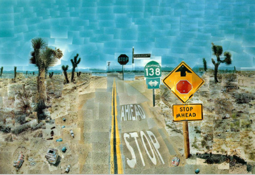 David Hockney, Pearblossom Highway, 11-18th April 1986 #2, 1986