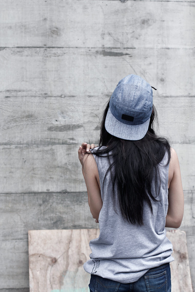 thedownlowe:  Chambray cap.