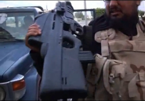 A FN F2000 assault rifle in Libya