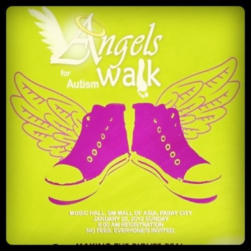 siiiiiigh:  Be an angel for autism! Join the Angels Walk for Autism on January 22, 2012, 8AM at the SM Mall of Asia. (Taken with instagram)