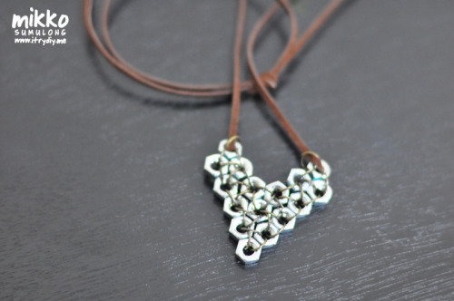 Hex Nut Pendant  Learn how to make these here: http://itrydiy.me
