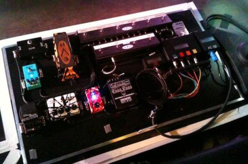 Eddie Van Halen's Pedalboard From Van Halen's Cafe Wha gig, as posted by Lava Cable on Facebook.