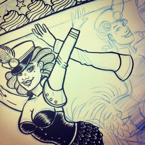#girls #wip #poster #cabaret #burlesque #birthday #palaismascotte  (Taken with instagram)
