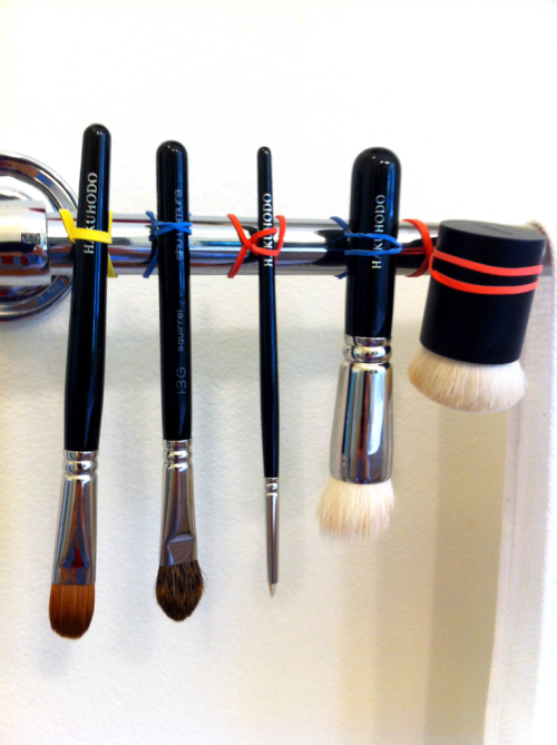 Great idea on how to dry makeup brushes! (Yes you should wash them! :-)   From Glossed in Translation…