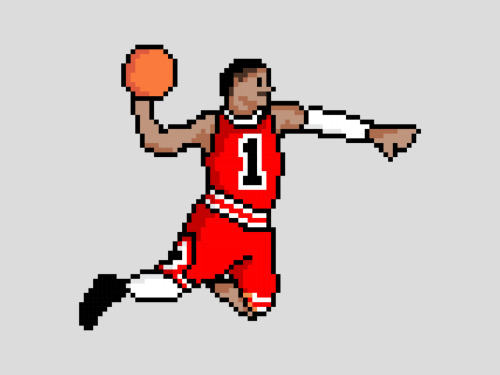 cheekymonkeyart:  8-Bit Bulls | Derrick Rose : Buy