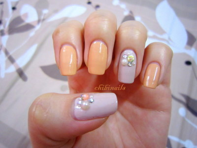 chibinails:  My lazy nails  lazy = simple & cute