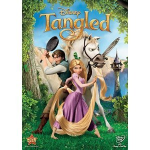 "Tangled Watch Time: 1 hr ""It's about a little girl and a horsie but it's not very good. A bunch of bad staff happens: chairs get knocked over and there's lots of vines."""