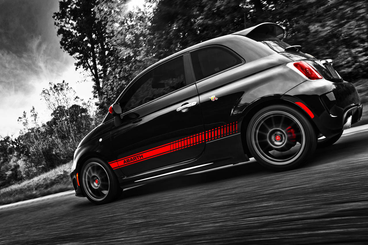 """2012 Fiat 500 Abarth priced from $22,000*"" I *love* small cars! I actually consider them less as small cars and more as big armor. And for people who instantly claim, ""I'd hate to see what happens if a tractor trailer hit that thing."" A person in a small car would fare significantly better than someone hit by a semi-truck while on a motorcycle. #TrustMe"