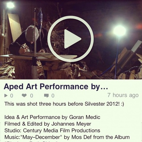 First Vimeo upload this year. Go to http://www.vimeo.com/centurymedia/aped I hope you enjoy… #aped #art #performance #vimeo #upload #work #media #handmade #stream (Taken with Instagram at Vimeo.com)