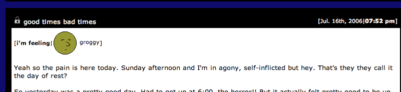 to self: lol remember when you had a livejournal.