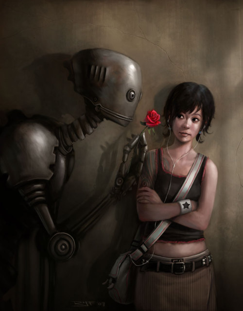 garabating:  Robot in Love by ~Rudeone