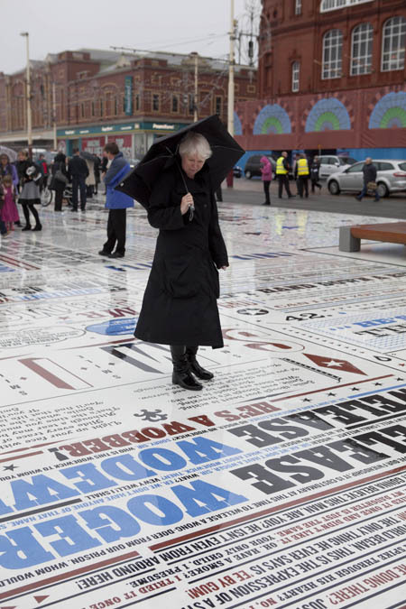 leafmag:  The Comedy Carpet in front of Blackpool Tower in England.  Ideas for a patio perhaps?