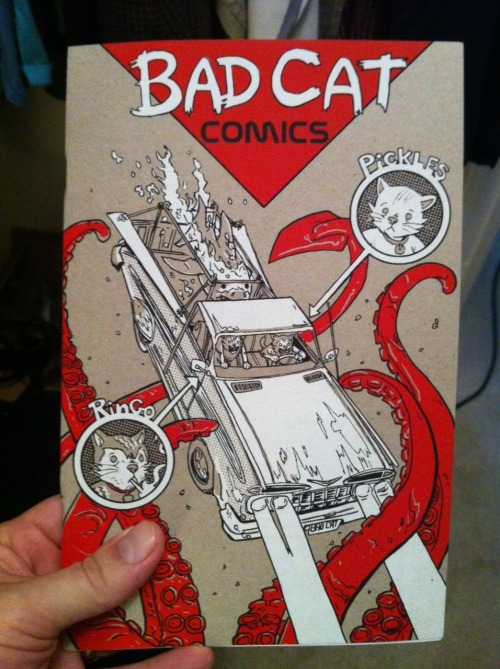 Got my incredibly awesome Bad Cat comic in the mail today, from the UBER-talented Mr. Tim Doyle.  Good stuff!  It's got a killer screen printed cover too!  Go to Nakatomi and snag a copy.