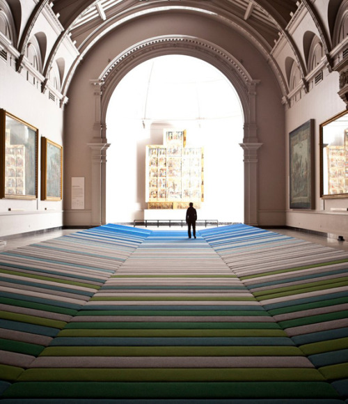 Wish I had seen this at the V & A.  Called Textile Field by Ronan and Erwan Bouroullec.   Source