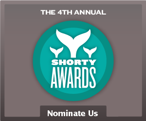 Nominate ShortFormBlog for a Shorty Award! Not to be asking too much or anything, but … This year's Shorty Awards are happening again, and we're looking to put a little effort into getting on them this year. We're hoping for showings in two categories this year: Blogger and the Microblog of the Year on Tumblr special category. Either would be awesome, but anything you can offer would be great! Thanks for reading, y'all, and we hope you enjoy all the cool stuff we throw up.