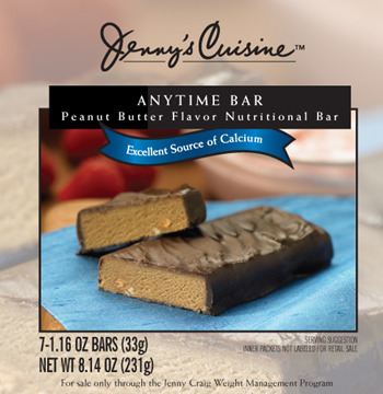 "Jenny craig's anytime bars. i went on jenny a few years ago and while most of their food was actually pretty good, these ""anytime bars"" tasted like sand/glue/cement. I couldnt even get one bite of this crap down my throat, it stuck to my teeth and almost choked me. now i know why they let you eat these ""anytime""… theyre completely inedible!! -liz"