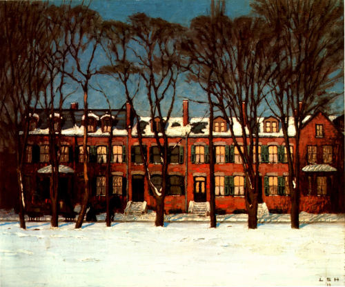 fuckyeahtoronto:  Lawren Harris, Old Houses Wellington Street, 1910