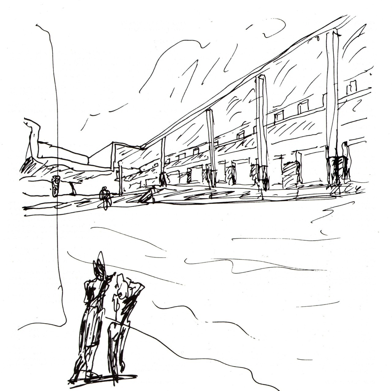 BLACK & WHITE SKETCHES | 015 | ÁLVARO SIZA VIEIRA