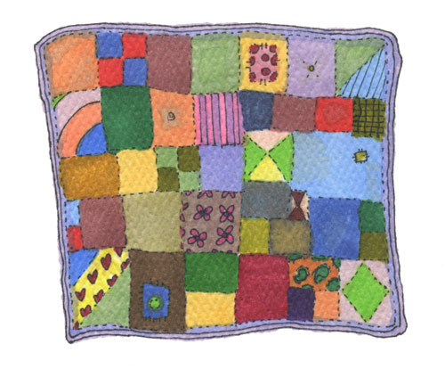 dallasclayton:    QUILT I would like to make a quiltas heavy as those vests you have to wearwhen they take your x ray at the dentistonly full of small flowers instead of leadlike a lavender potpourri,but big enough to cover my entire bedand me as well. No reason for this.No marketing plan.Just think it would feel nice.Like being huggedby a giant friend.  I need this. But I'm going to make it out of old tshirts.