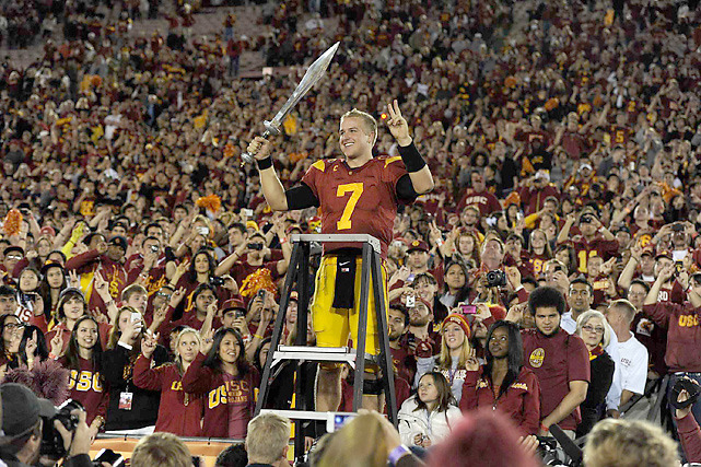 Matt Barkley is returning to USC next season, lifting the Trojans to No. 2 in SI's early look at the Top 25 for 2012. Where does your favorite team rank? (John W. McDonough/SI) STAPLES: My way-too-early look at the Top 25 for the 2012 college football seasonSCHROEDER: The LSU-Alabama dud may finally bring about a change to the BCS