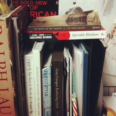 caryrandolph:  My little deskside library keeps growing and growing.Time to upgrade to a corner office.I vacillate between wanting a minimalist space, all light and space and power,and a cluttered mad scientist laboratory with books and paper stacked to the ceiling.(Of course, there is still plenty of time to make a decision—decades probably.) What's your ideal workspace? What books are on your shelves?