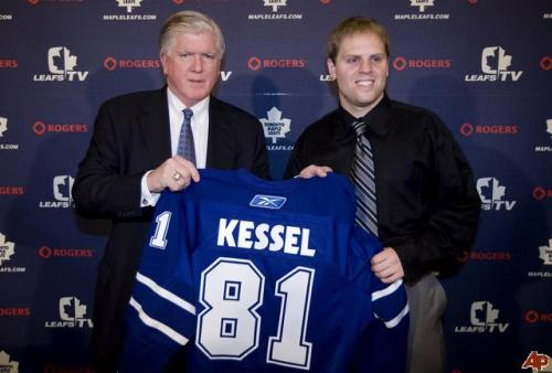 "September 19, 2009 The rare, properly knotted ""I just traded for Phil Kessel"" tie."