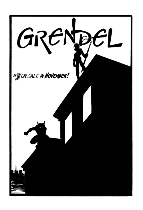 mistahphil:  Promotional ad for Grendel #3 by Matt Wagner, 1983.