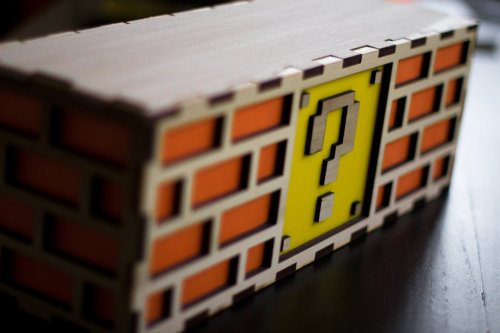it8bit:  Mario Question Mark Block Lamp - by The Back Pack Shoppe Available for $50 USD at Etsy.