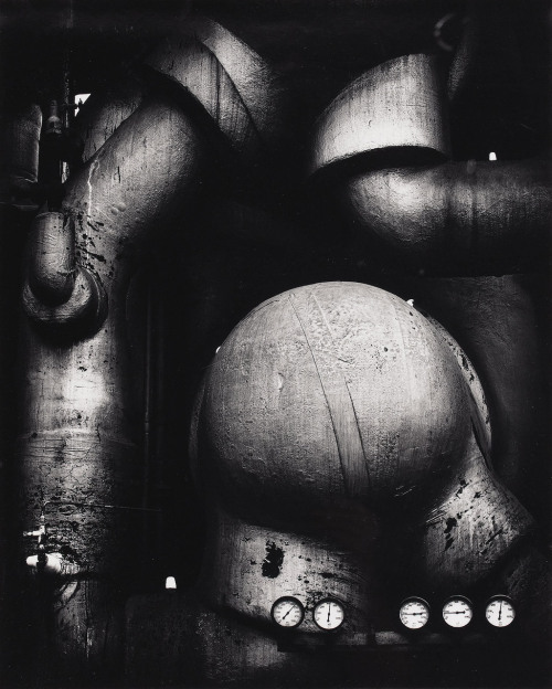 areg:  Pipes and Gauges, West Virginia. Photo by Ansel Adams, 1939