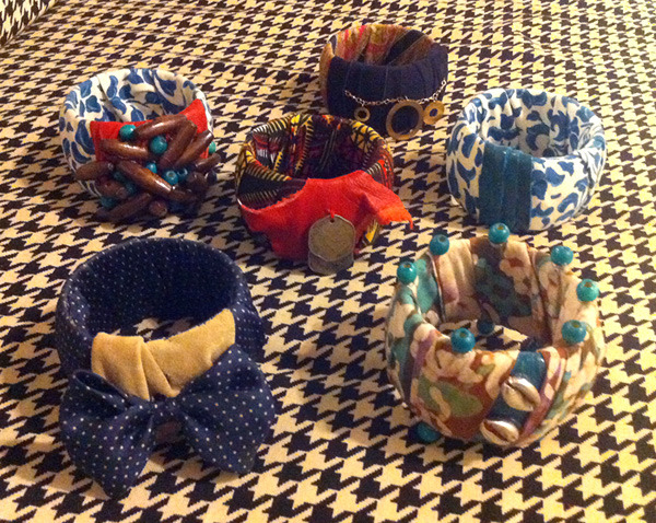 Take a look at these! Projects from the Bangles Workshop. Photo provided by instructor, Kat Roberts.