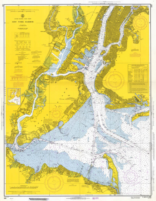 What lies beneath the New York Harbor: A new stream; Teredos (worms as big as your thumb, and nearly four feet long, with little triangular teeth) and Gribbles (bugs about the size of a pencil dot that look like tiny armadillos, and eat not only wood but also concrete); a 10,500-mile gas main; a pair of piggybacked shipwrecks; a freight train; dead bodies; surveillance systems; stripped cars; rebar, and a lot of it; another shipwreck; Hudson River alligators… From New York Magazine via BLDG BLOG