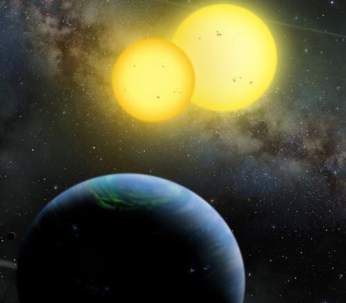 discoverynews:  Two Planets With Twin Stars Found The Star Wars' fictional planet Tatooine is not so fictional or unique after all. Fresh on the heels of the discovery of a planet orbiting two parent  stars comes the finding that far from being a fluke, such systems are  common throughout the galaxy. read more