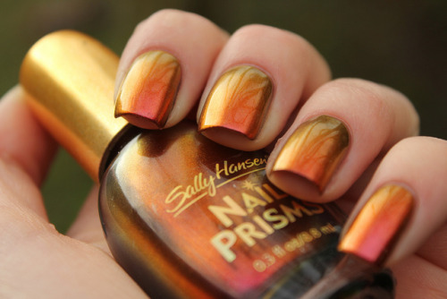 Sally Hansen Nail Prisms Amber Ruby on Flickr.This is just amazing! www.coewlesspolish.wordpress.com