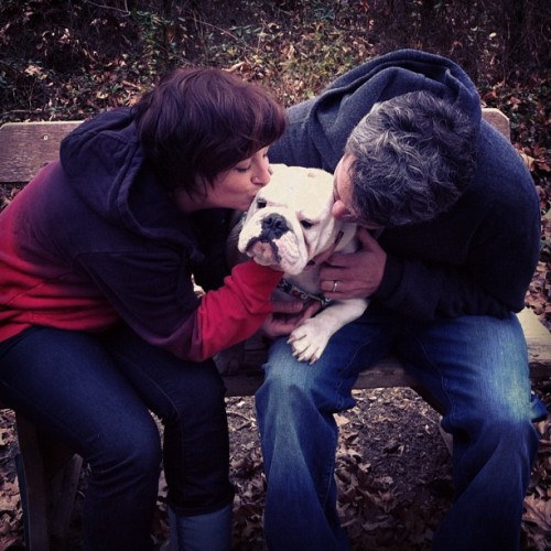 Birthday kisses for Stella!  (Taken with instagram)