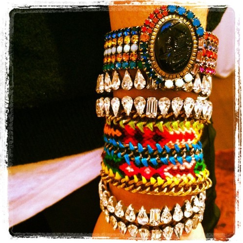 @manrepeller can't leave #dannijo without a custom crafted #armparty  (Taken with instagram)