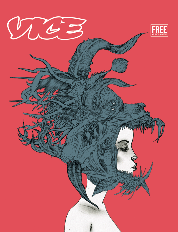The Children of the Dragon Issue, January 2012. Cover by David Choe