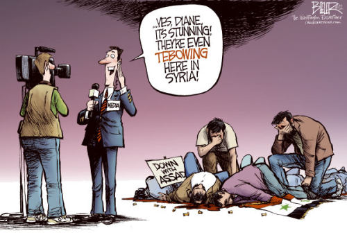 viciousneutral:  bethanypost:  The Media ~ Picture by Nate Beeler  Classic.