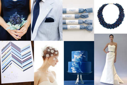 french blue wedding theme