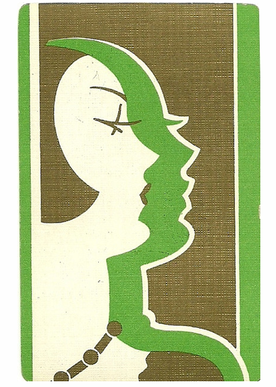hollyhocksandtulips:   Art Deco playing cards