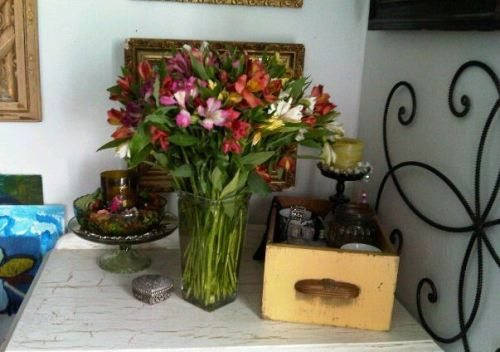 These are flowers my daughter sent me when she was in Iraq.  She's safe now.
