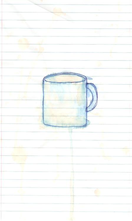 A Cup of Coffee. w/ coffee stains