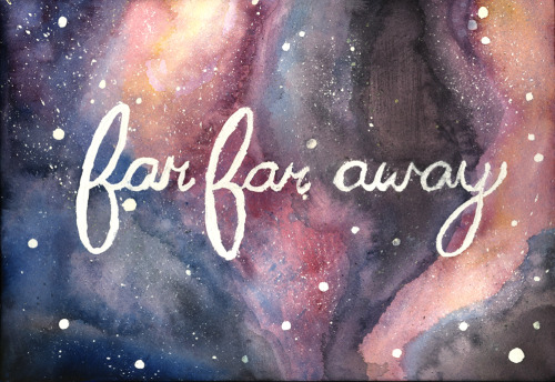 eatsleepdraw:  A watercolor piece  I did because I felt like painting space :)
