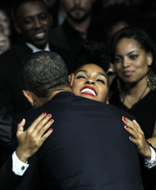 bealltruth:  teadanceordie:  Obama and Monáe  That is what's up !!