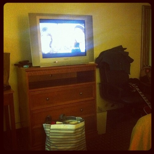 Watching Mrs. Doubtfire in North Carolina #badass (Taken with instagram)