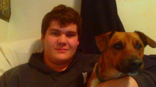 me and my mutt pup milo