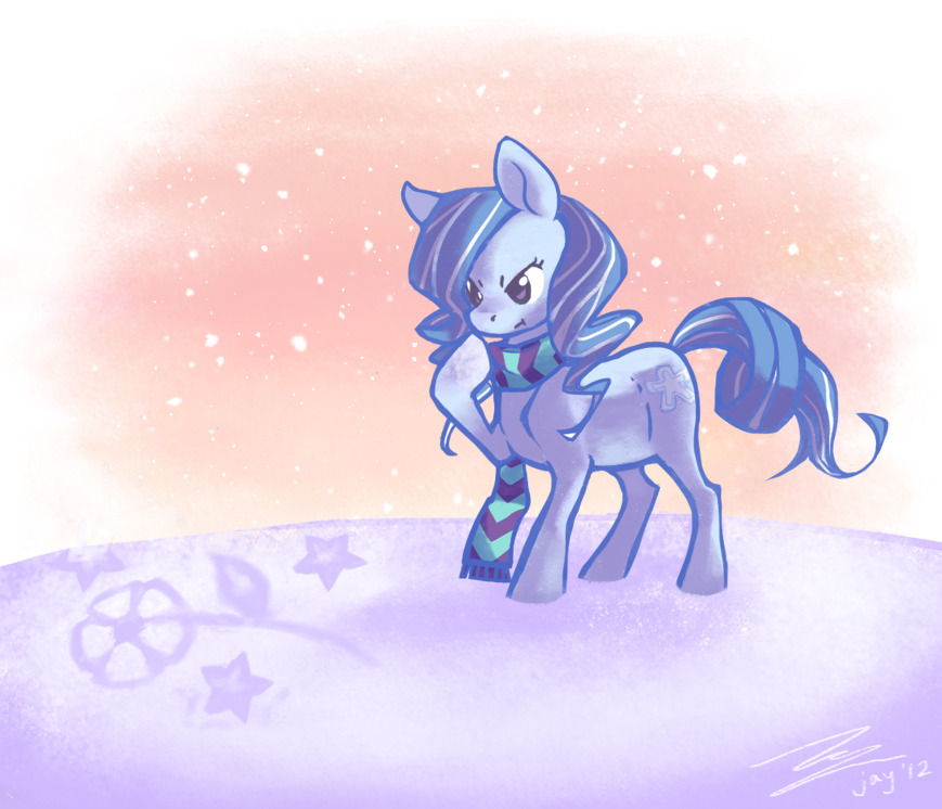 holidaymlp:  oh man i'm the last one to submit aren't i dfskj THIS IS SO EMBARASSING AND SO LATE THAT IT'S NOT EVEN CHRISTMAS ANYMORE… But! here is my super late submission! ;3; Snow Angel for kittyichooseyou, contemplating her doodles in the snow! I'm really sorry this is so late; I had a long-running family emergency that took up the majority of my holidays, with exams right afterwards that I'm still in the middle of /A\;; But anyway, Snow Angel was a lot of fun to draw and I'm glad I got her ;w;! Once again, sorry for the late, and I hope you had a wonderful Christmas and New Year's! ❆  i accidentally the forgot to reblog BUT #YEP MORE PONIES.