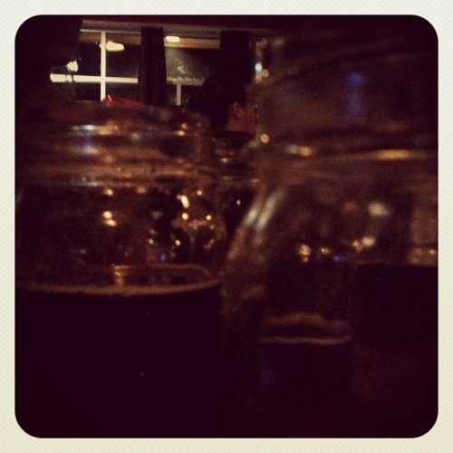 Beer in jelly jars… Excellent.  (Taken with instagram)