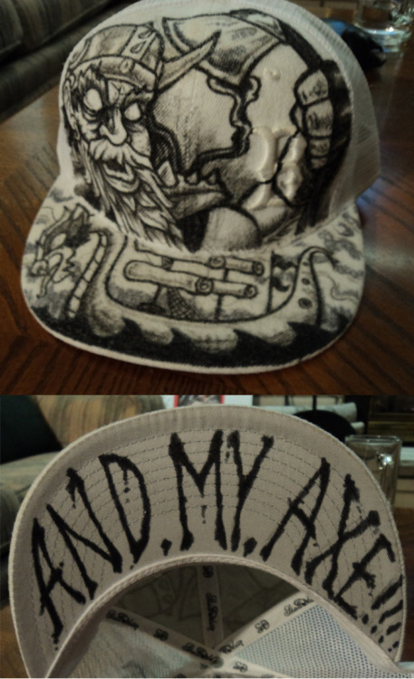 custom made hat by Kyle Weber