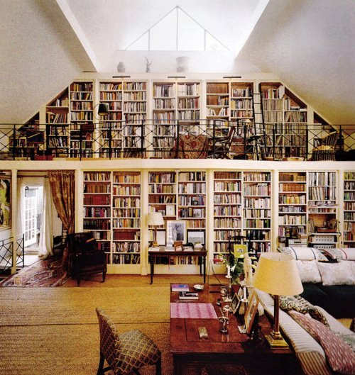 My dream library.  Located in my dream house. Well. One of them.